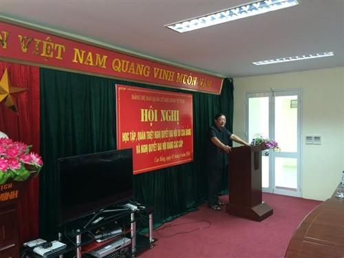 Đ/c Hoàng Cao Bái – Phó Bí thư Đảng ủy phát biểu khai mạc Hội nghị